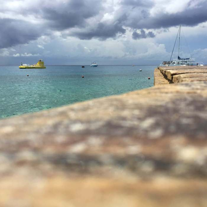 Dock on the Caribbean