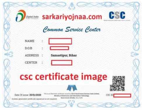 CSC certificate download, CSC certificate download 2020
