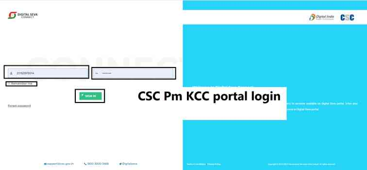 CSC-Pm-KCC-portal-login-with-csc-id-and-password, Common Service Center