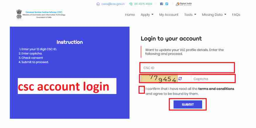 csc-account-login, CSC certificate download 2020