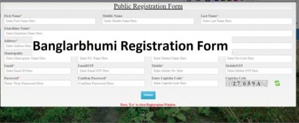 Banglarbhumi-Registration-Form, Banglarbhumi ROR Application, Banglarbhumi ROR Application
