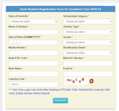 Fresh-Student-Registration-Form-for-Academic-Year-2021, nsp,