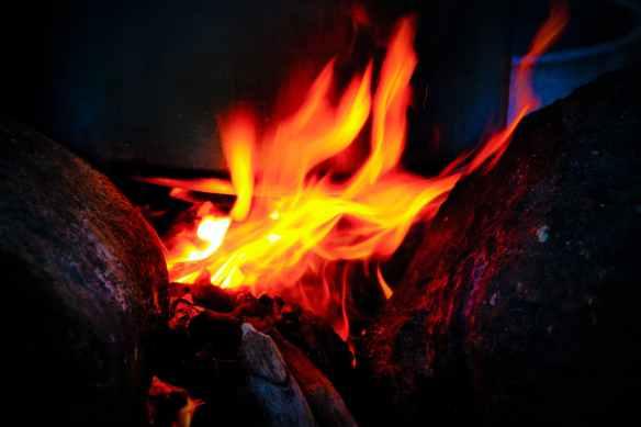 firewood fire fire bowl