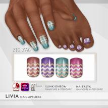 LIVIA Zig Zag Nails
