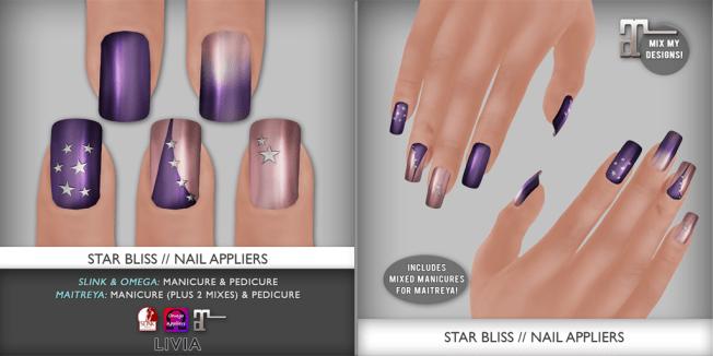 [LIVIA] Star Bliss Nails (Slink/Omega/Maitreya)