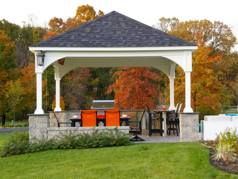 Beautiful Backyard Pavilions on Outdoor Patio Pavilion id=88404