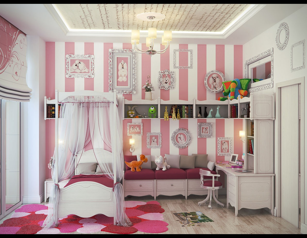 Girls' Bedroom Ideas to Make Her Feel Like a Princess on Room Decorations For Girls  id=26916