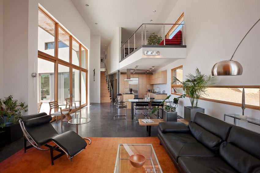 Lofty Living with Open Two-story Interiors on Interior:ybeqvfpgwcq= Modern House  id=86453