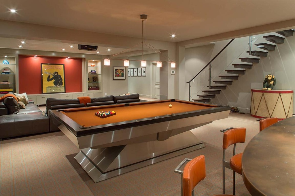 If you have a game room or recreation area in your home, it's important to have good lighting. Unique and Stylish Game Rooms to Inspire