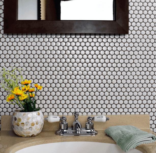 penny tile bathroom 8 design ideas for