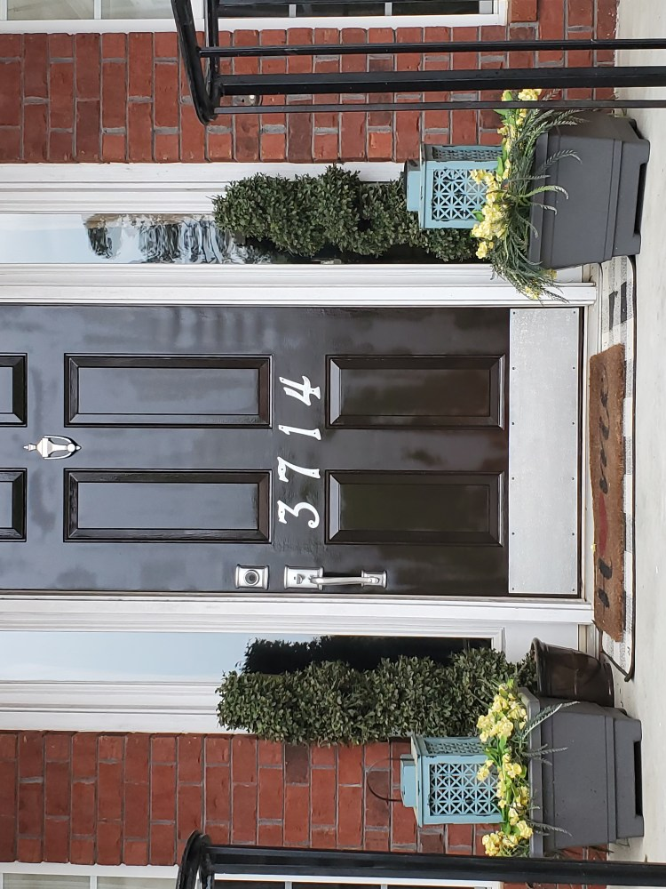 Pic of almost finished DIY Front Door Makeover