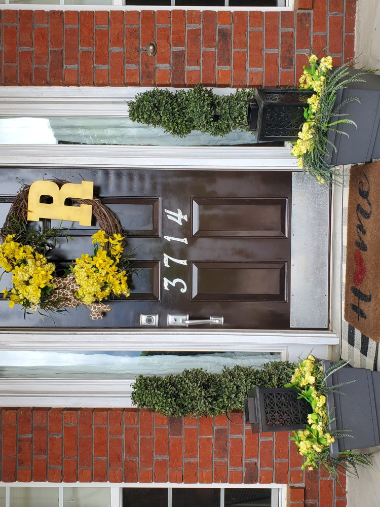 Pic of finished DIY Front Door Makeover