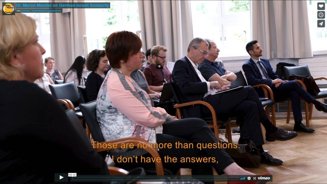Dr. Meron Mendel on German-Israeli Solidarity