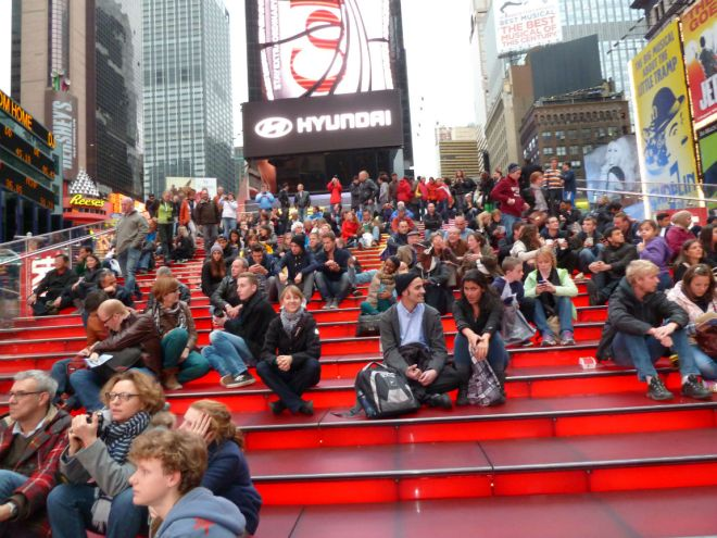 Stairs at Times Square