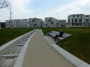 Sitting on a bench in Killesberg park
