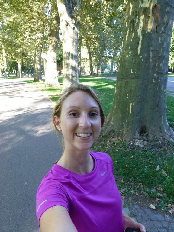 Running at Schlossgarten Stuttgart