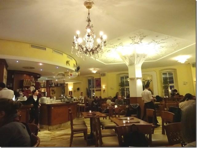 Inside Grand Café Planie in Stuttgart