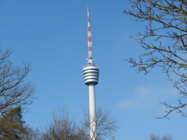 A sunny day at the top of TV-Tower Stuttgart