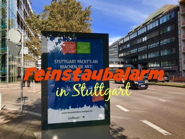Feinstaubalarm in Stuttgart