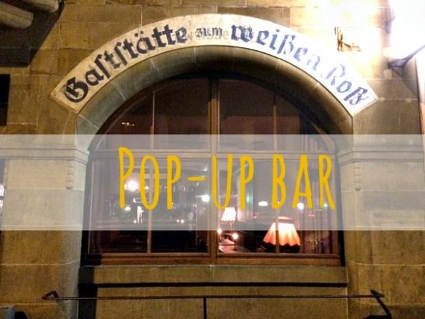 New and fun pop-up bar at Leonhardsviertel