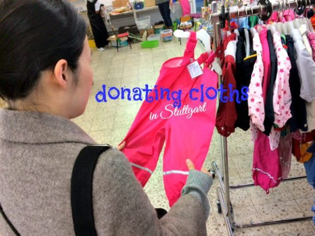 Donating cloths in Stuttgart for a good cause