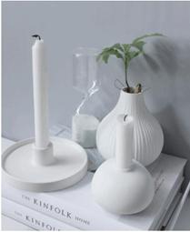 witte kandelaar storefactory small wit keramiek