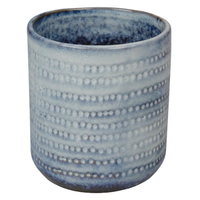 pot keramiek blauw