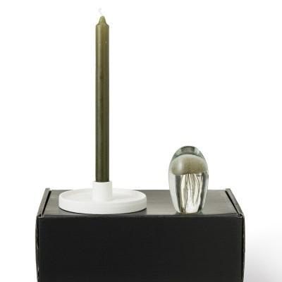 cadeaupakket met kandelaar, kaars en jellypress