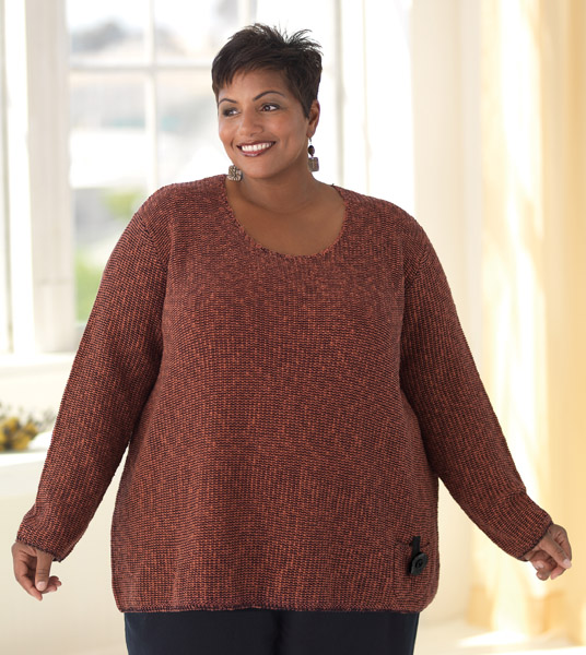 """MiB calls this a """"textured pullover"""".  The texture does look nice..."""