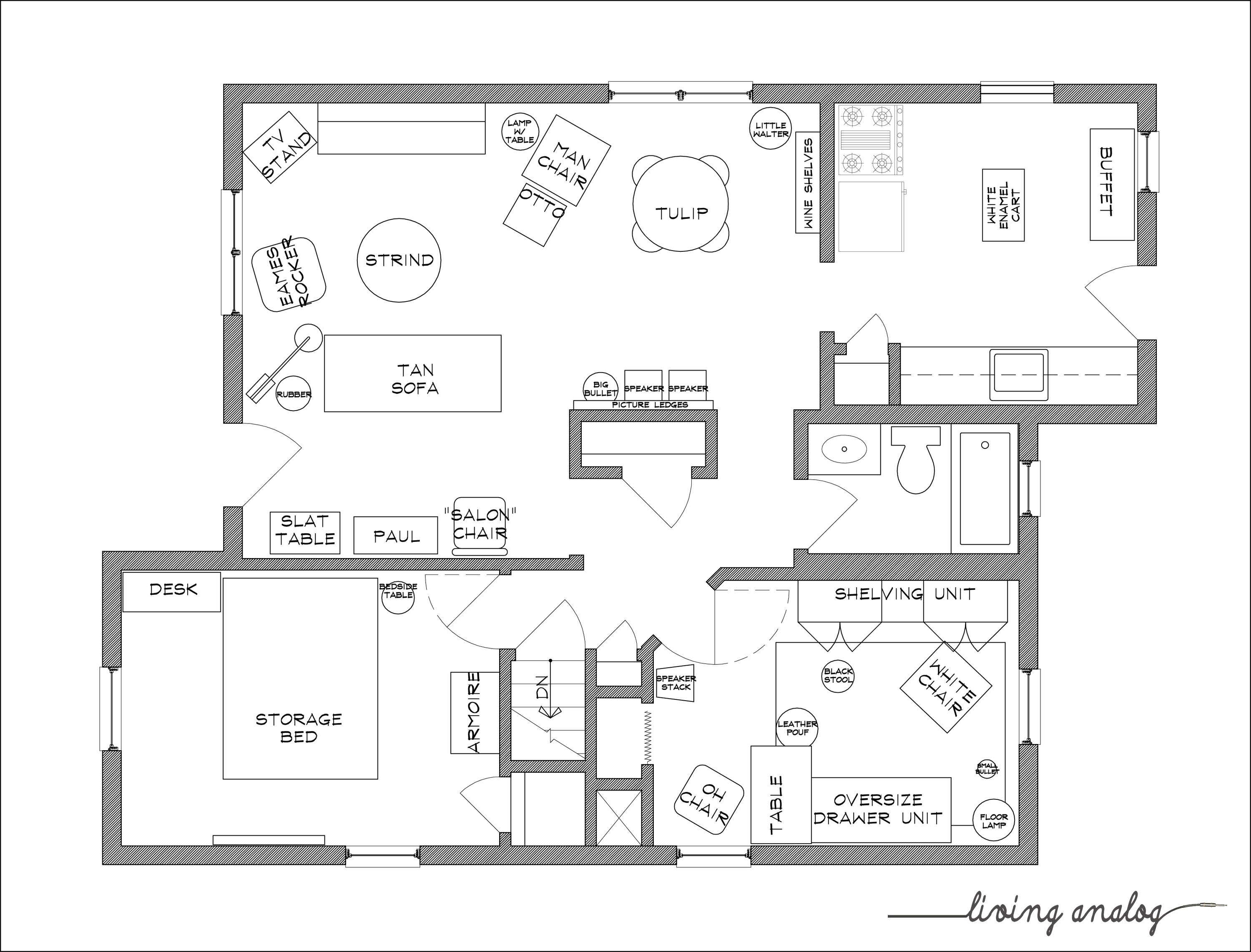 Free Furniture Templates For Floor Plans