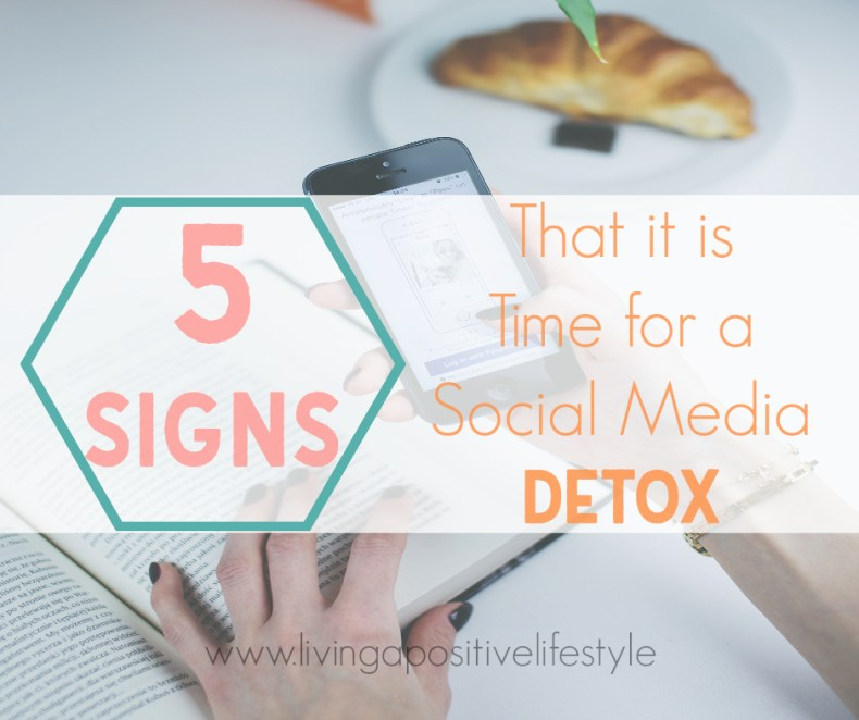 We all love connecting via social media, but sometimes social media negatively impacts us. Here are 5 signs that it may be time for a social media detox.