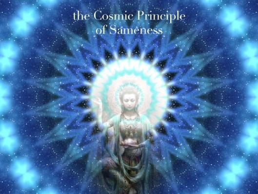 cosmic principle of sameness.001