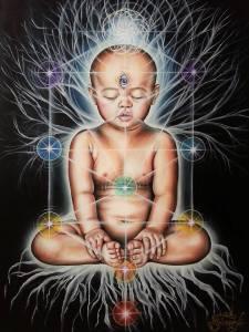toddler in meditation