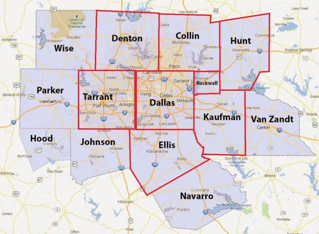 North Texas counties that have already called a shelter in place.
