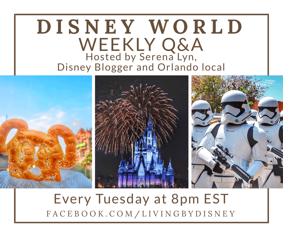 Disney World Q&A on Facebook Live