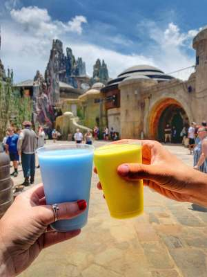 BLUE AND GREEN MILK STAR WARS GALAXY'S EDGE IN WALT DISNEY WORLD