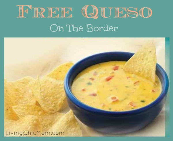 picture about On the Border Printable Coupons known as Free of charge QUESO at Upon the Border - printable coupon! - Dwelling