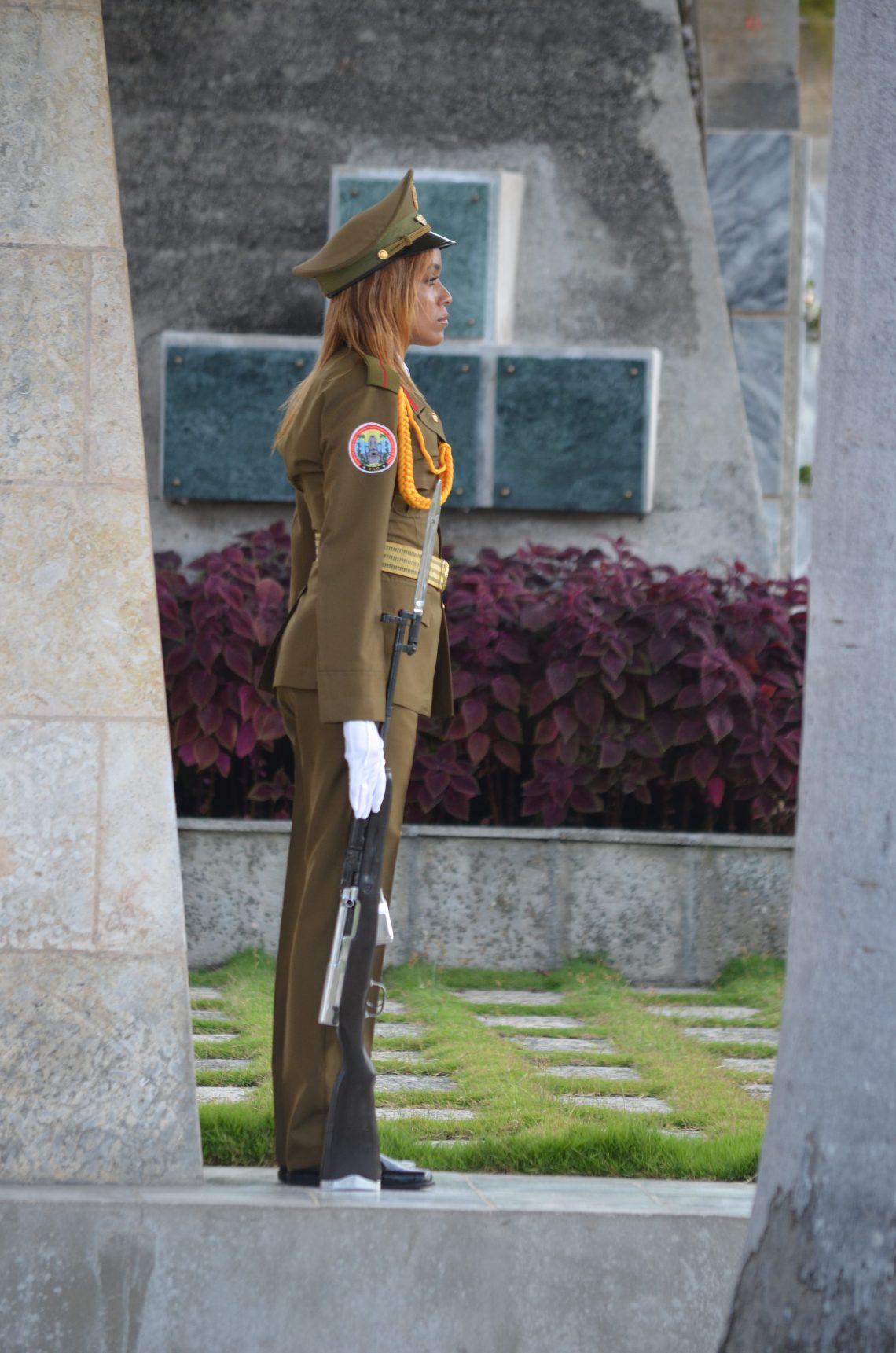 Solider, Santa Ifigenia Cemetery, Santiago de Cuba