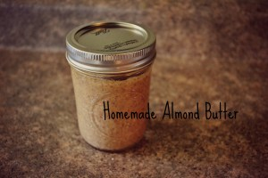 Homemade almond butter photo