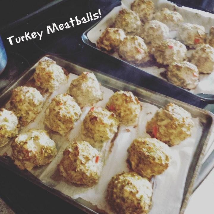 Turkey meatballs double batch