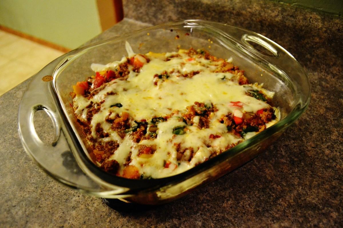 Beef Quinoa Bell Pepper Bake
