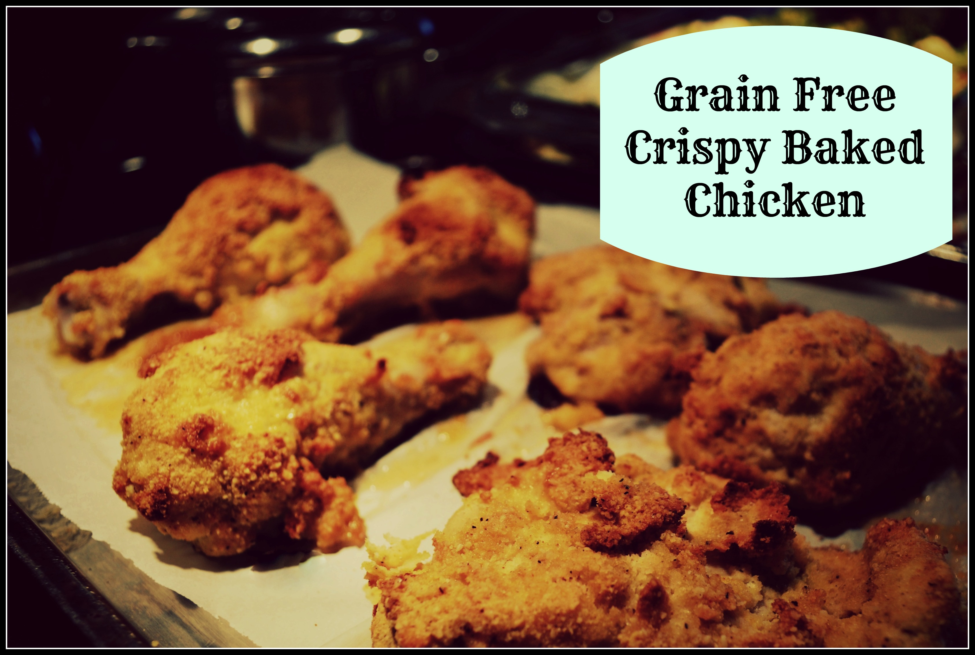crispy chicken done labeled and border