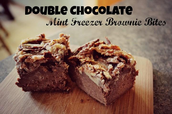 Double Chocolate Mint Freezer Brownie Bites