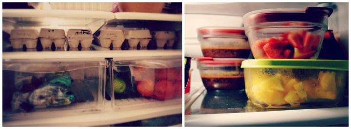 organized fridge