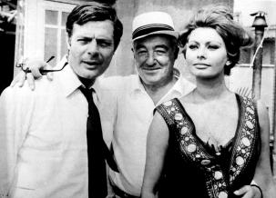 Marcello Mastroianni, Sophia Loren and Vittorio De Sica