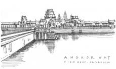 Angkor Wat - sketch by Naomi Leeman