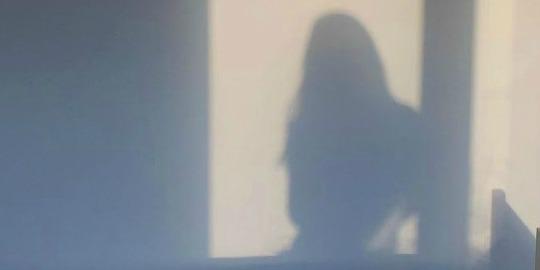 shadow of girl with vitiligo