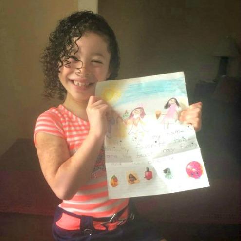 Meet Aliya, age 7 from Massachusetts
