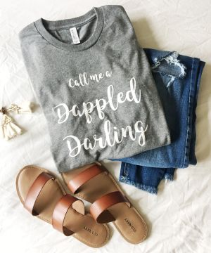 Call Me a Dappled Darling Living Dappled Vitiligo TShirt