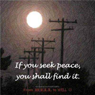 Seek peace